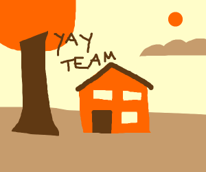Tree and house finally team up