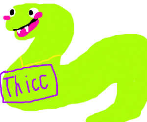 THICC neon snake