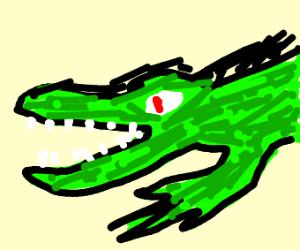crocodile with white teeth