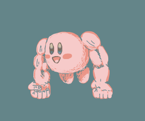 Kirby with Human Arms