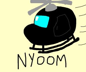 Speeding Helicopter