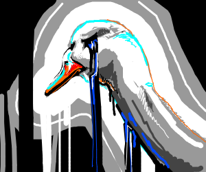 An emo goose. (Crossy road refrence?)