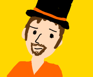 Dude with a hat and goatee