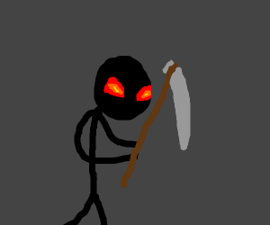 Stickman with giant scythe