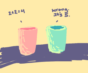 Cups argue over math