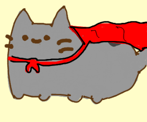 Cat with red cape