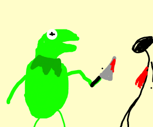 "Kermit ""kermits"" murder! what a goof!"