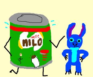 milo and stitch are running buddies