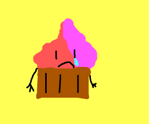 Depressed cupcake