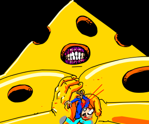 Getting crushed by cheese