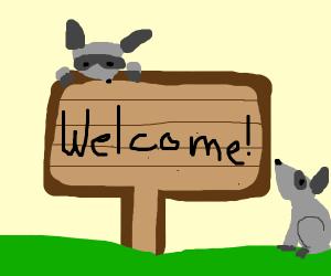 Raccoon City welcome sign