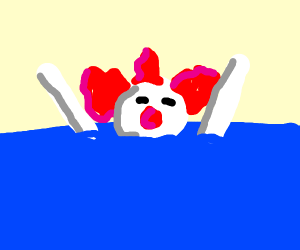 Drowned clown