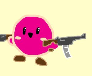 Kirby's got a gun