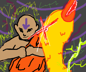 Aang summons the 5th element, the duck