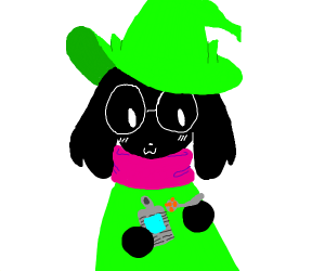 Ralsei eating beans