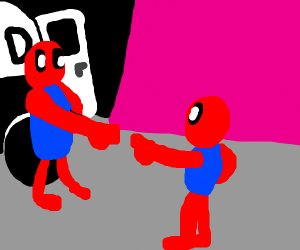 That spiderman point meme