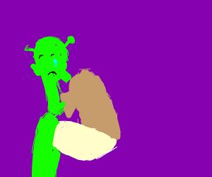 Shrek cries