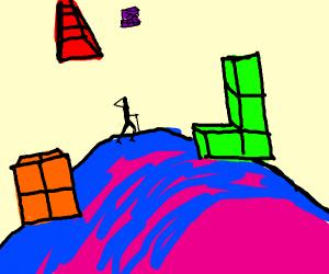 guy going to tetris hill zone