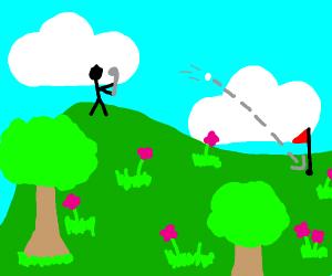 Golf on Beautiful Mountaintop