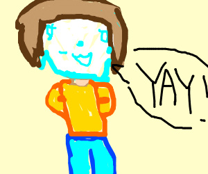 Ice face guy says yay