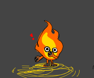 Flame with limbs and eyes