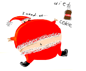 Santa needs a diet coke