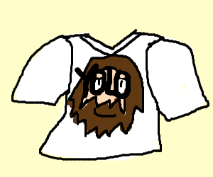 Crist shirt with YOLO face