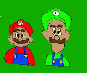 Mario and Green Mario