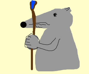 Mouse with staffs