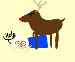grandma gets run over by rudolph the reindeer