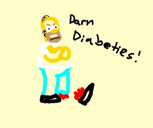 Homer Simpson loses foot to diabetes
