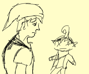 Link is sad because Tetra died