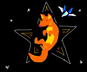 Star fox, but he's just a normal fox in space
