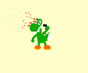 Yoshi committing suicide