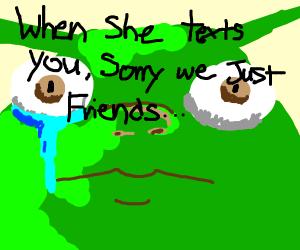 Sad Shrek crying
