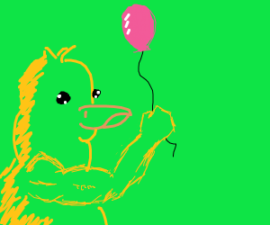 Duck with a balloon