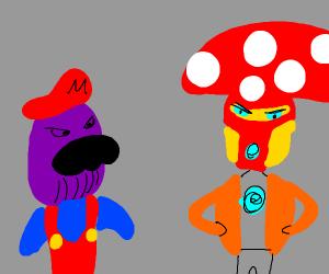 Thanos Mario and Iron Man Toad