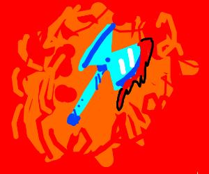Blue axe