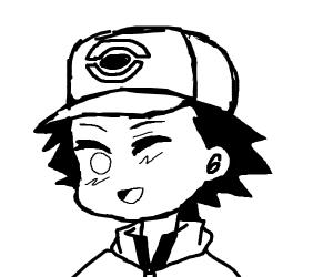 Ash from Pokemon winks