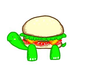 Burger turtle!