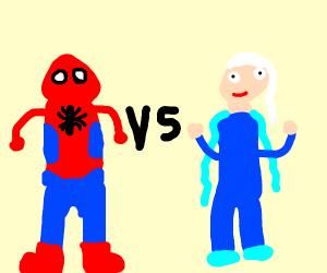 Elsa spiderman vs MCU Spider