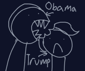 Obama forced to eat Trump