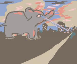 elephant bigger than city