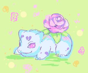 bulbasaur grows a lovely flower