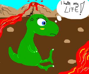 Dinosaur hates life