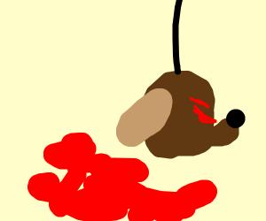 Evil dog decapitated