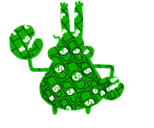 Mr  Krabs, but he's made out of money