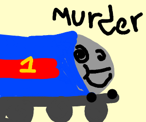 Thomas the tank engine plotting murder