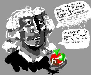 Newton explains his law... Gravity?