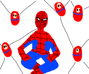 spiderman and his spiderbabies